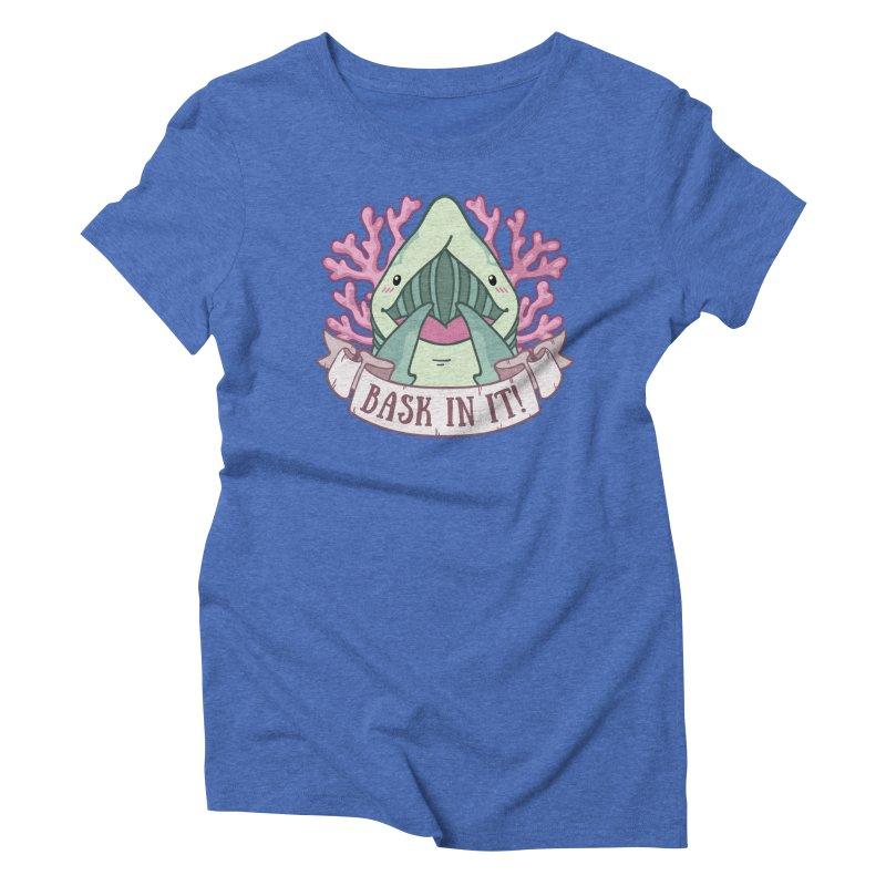 Bask In It! (Basking Shark) Women's Triblend T-Shirt by Byte Size Treasure's Shop
