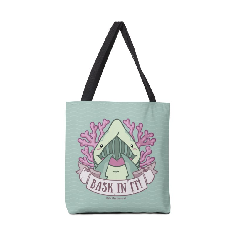 Bask In It! (Basking Shark) in Tote Bag by Byte Size Treasure's Shop