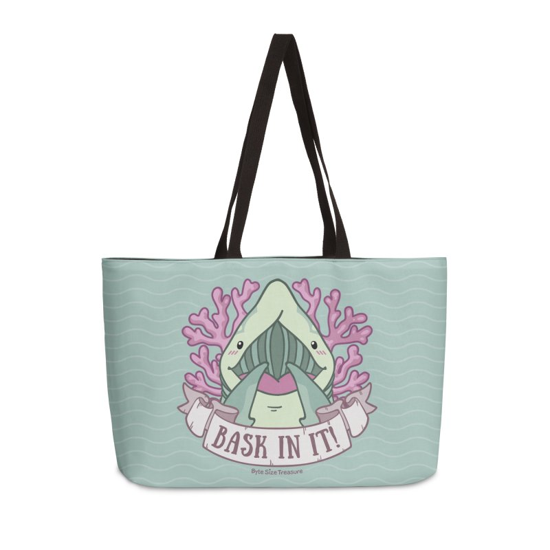 Bask In It! (Basking Shark) in Weekender Bag by Byte Size Treasure's Shop