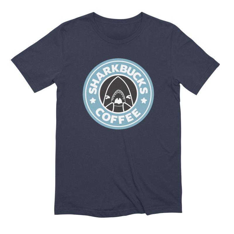SHARKBUCKS (Blue) Men's Extra Soft T-Shirt by Byte Size Treasure's Shop