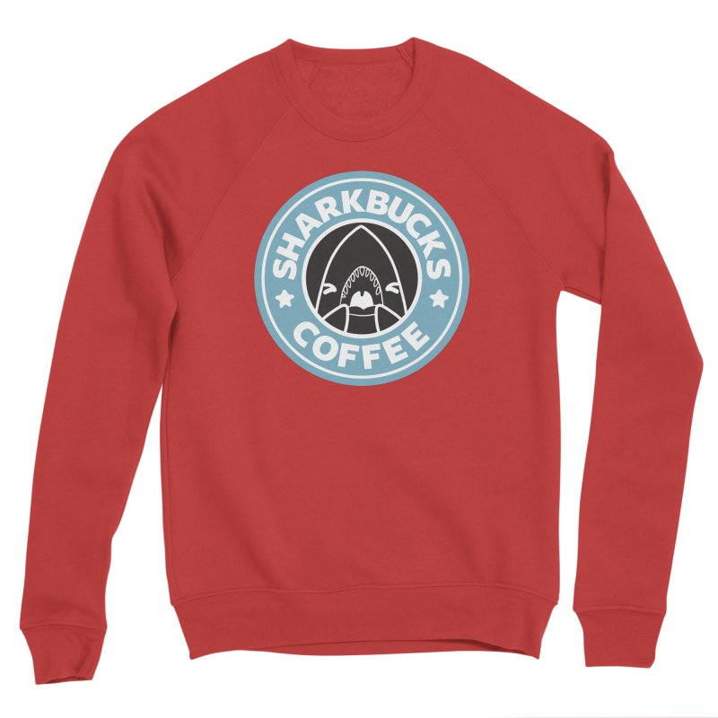 SHARKBUCKS (Blue) Men's Sponge Fleece Sweatshirt by Byte Size Treasure's Shop
