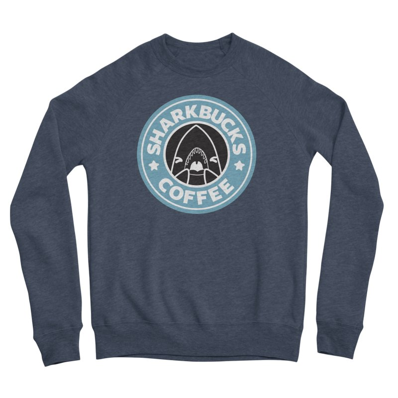 SHARKBUCKS (Blue) Women's Sponge Fleece Sweatshirt by Byte Size Treasure's Shop