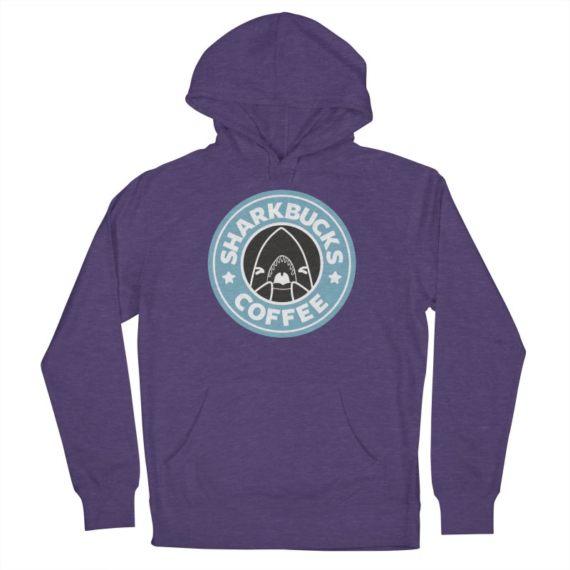 SHARKBUCKS (Blue) Women's French Terry Pullover Hoody by Byte Size Treasure's Shop