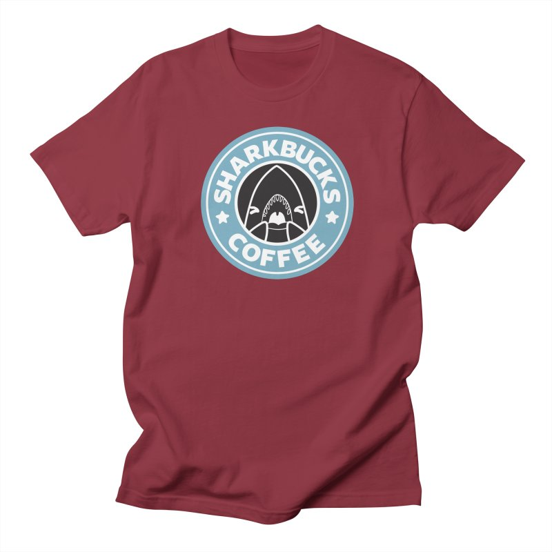 SHARKBUCKS (Blue) Women's Regular Unisex T-Shirt by Byte Size Treasure's Shop