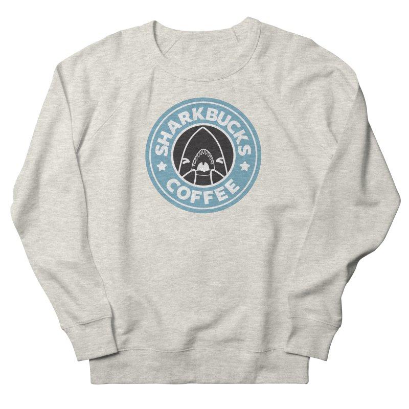 SHARKBUCKS (Blue) Women's French Terry Sweatshirt by Byte Size Treasure's Shop