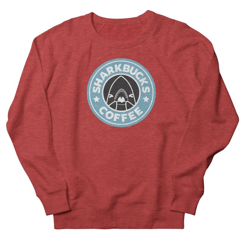 SHARKBUCKS (Blue) Men's French Terry Sweatshirt by Byte Size Treasure's Shop