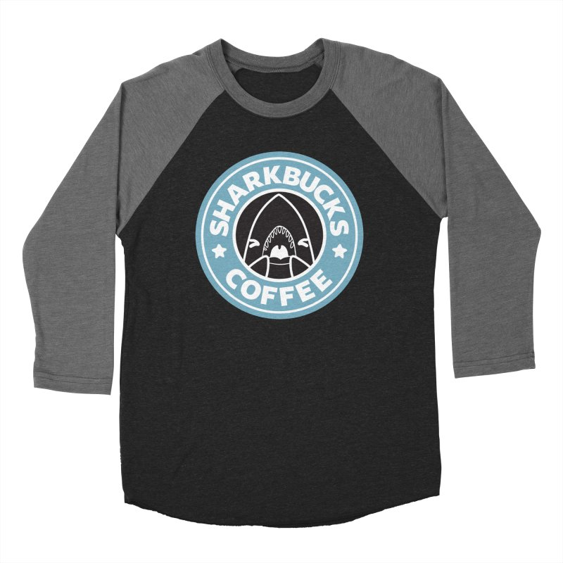 SHARKBUCKS (Blue) Women's Baseball Triblend Longsleeve T-Shirt by Byte Size Treasure's Shop