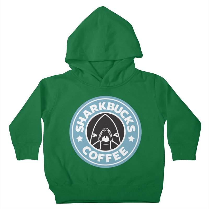 SHARKBUCKS (Blue) Kids Toddler Pullover Hoody by Byte Size Treasure's Shop