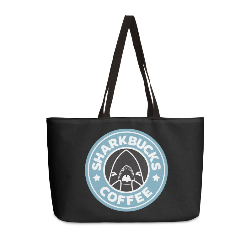 SHARKBUCKS (Blue) in Weekender Bag by Byte Size Treasure's Shop