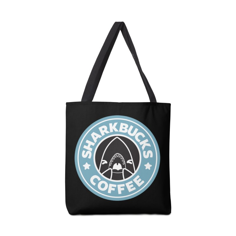 SHARKBUCKS (Blue) Accessories Bag by Byte Size Treasure's Shop