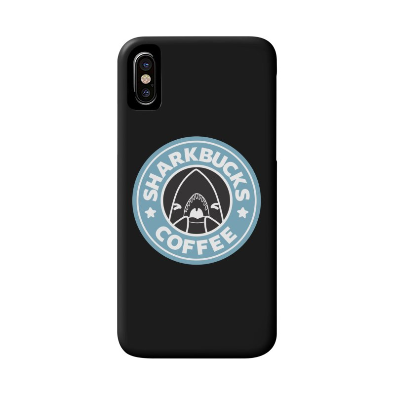 SHARKBUCKS (Blue) Accessories Phone Case by Byte Size Treasure's Shop
