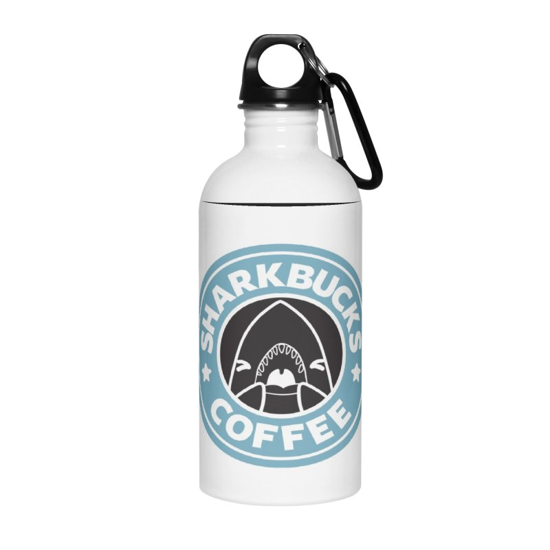 SHARKBUCKS (Blue) Accessories Water Bottle by Byte Size Treasure's Shop