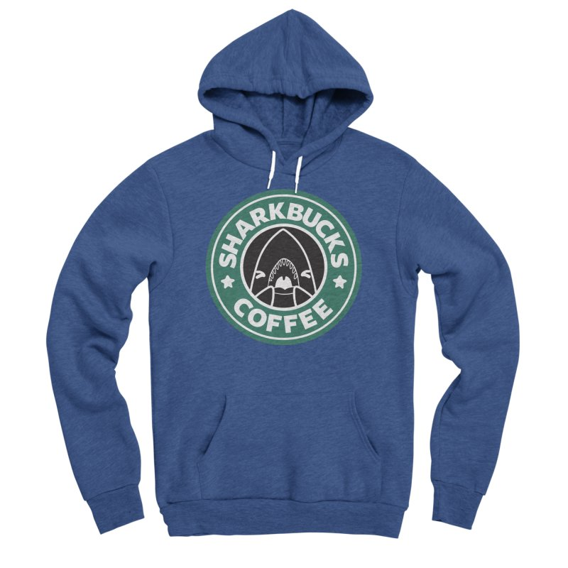SHARKBUCKS (green) Women's Sponge Fleece Pullover Hoody by Byte Size Treasure's Shop