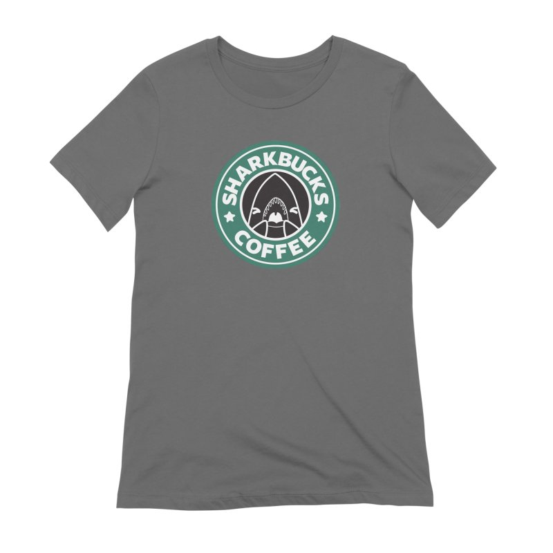 SHARKBUCKS (green) Women's Extra Soft T-Shirt by Byte Size Treasure's Shop