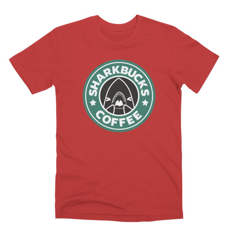SHARKBUCKS (green) Men's Premium T-Shirt by Byte Size Treasure's Shop