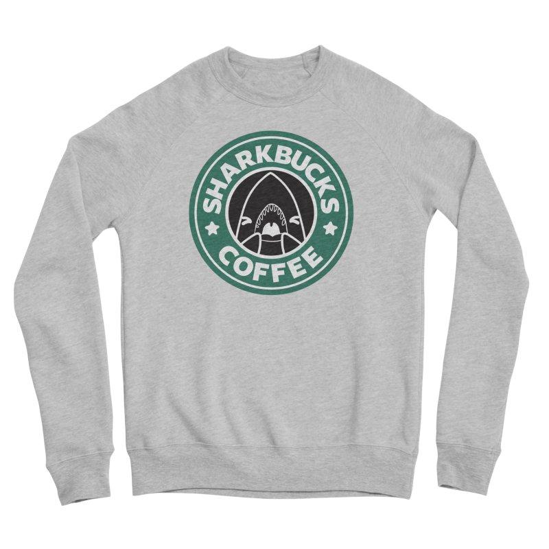 SHARKBUCKS (green) Women's Sponge Fleece Sweatshirt by Byte Size Treasure's Shop