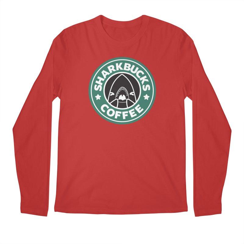 SHARKBUCKS (green) Men's Regular Longsleeve T-Shirt by Byte Size Treasure's Shop