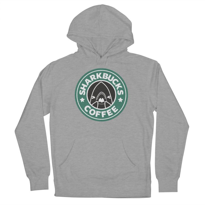 SHARKBUCKS (green) Women's French Terry Pullover Hoody by Byte Size Treasure's Shop
