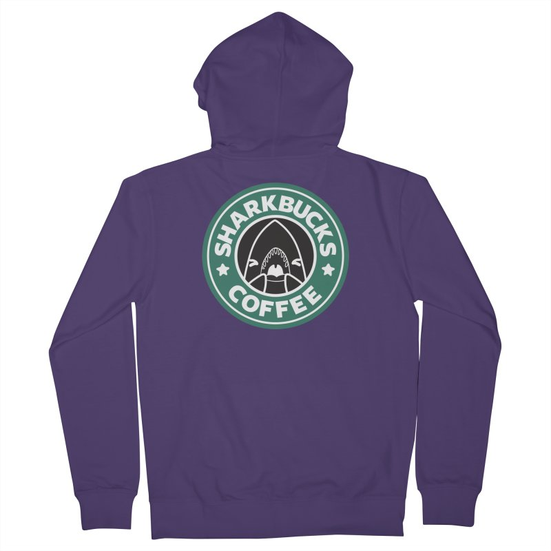 SHARKBUCKS (green) Women's French Terry Zip-Up Hoody by Byte Size Treasure's Shop