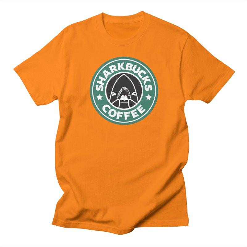 SHARKBUCKS (green) Men's Regular T-Shirt by Byte Size Treasure's Shop