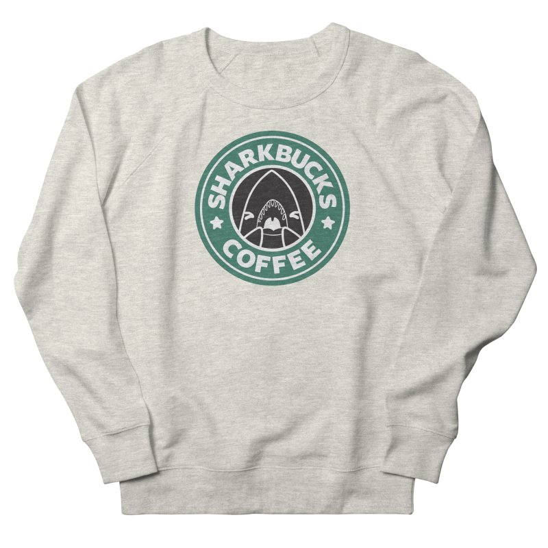 SHARKBUCKS (green) Women's French Terry Sweatshirt by Byte Size Treasure's Shop