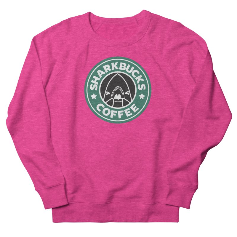 SHARKBUCKS (green) Men's French Terry Sweatshirt by Byte Size Treasure's Shop