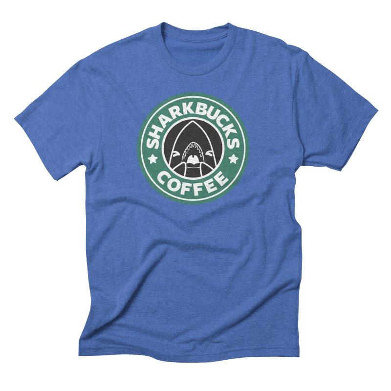 SHARKBUCKS (green) Men's Triblend T-Shirt by Byte Size Treasure's Shop