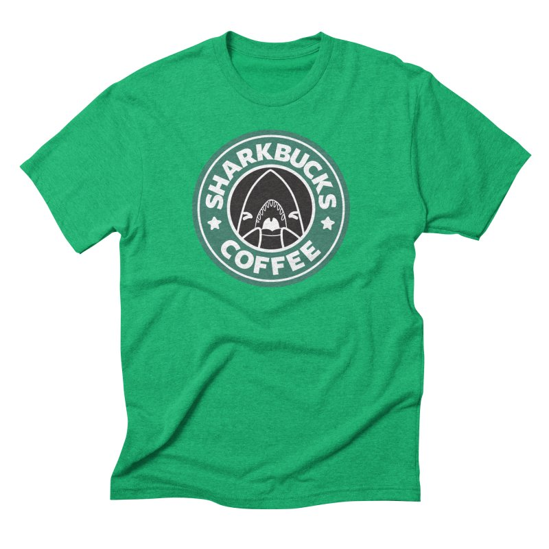 SHARKBUCKS (green) Men's Triblend T-Shirt by Byte Size Treasure's Shop