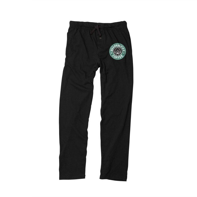 SHARKBUCKS (green) Men's Lounge Pants by Byte Size Treasure's Shop