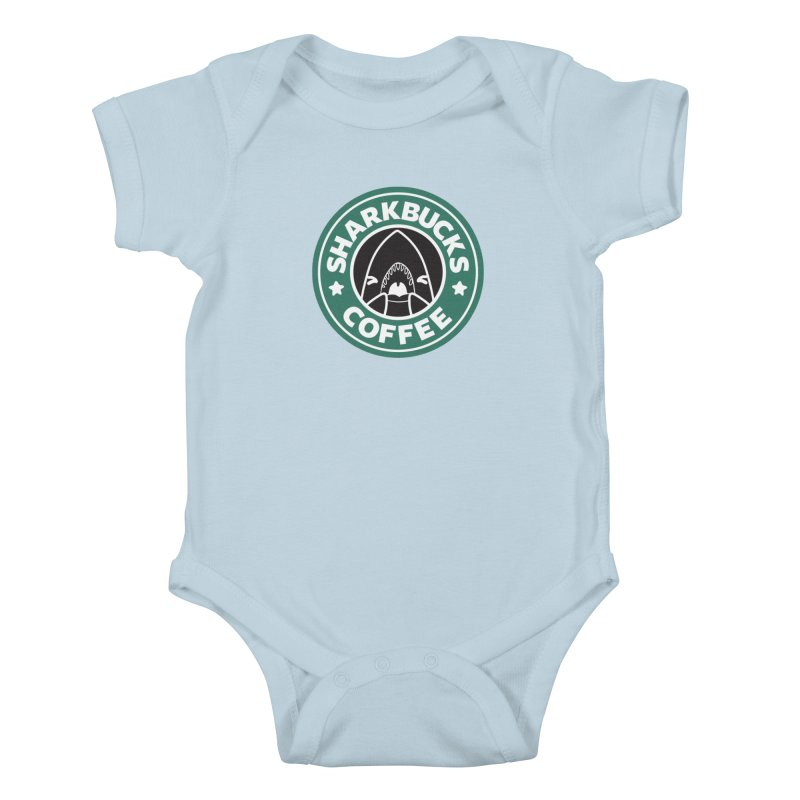 SHARKBUCKS (green) Kids Baby Bodysuit by Byte Size Treasure's Shop