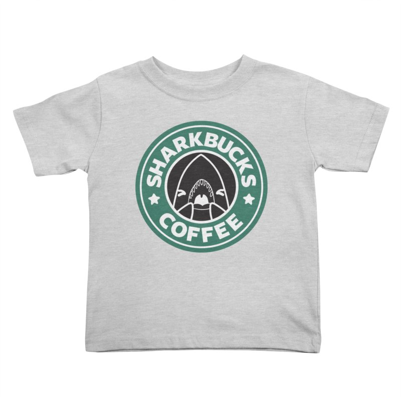 SHARKBUCKS (green) Kids Toddler T-Shirt by Byte Size Treasure's Shop