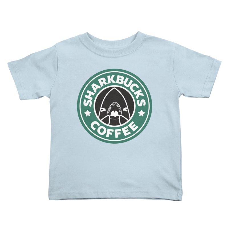 SHARKBUCKS (green) Kids Toddler T-Shirt by Byte Size Treasure's Shop