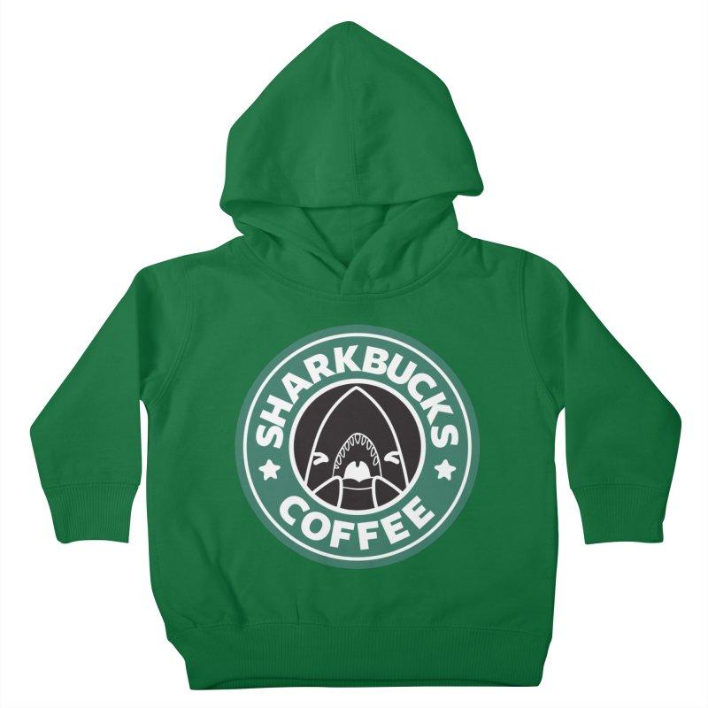 SHARKBUCKS (green) Kids Toddler Pullover Hoody by Byte Size Treasure's Shop