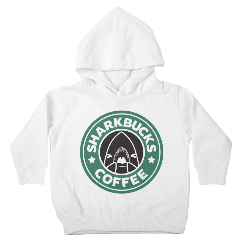 SHARKBUCKS (green) Kids Toddler Pullover Hoody by Byte Size Treasure's Shop
