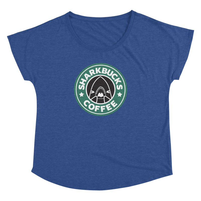 SHARKBUCKS (green) Women's Dolman Scoop Neck by Byte Size Treasure's Shop