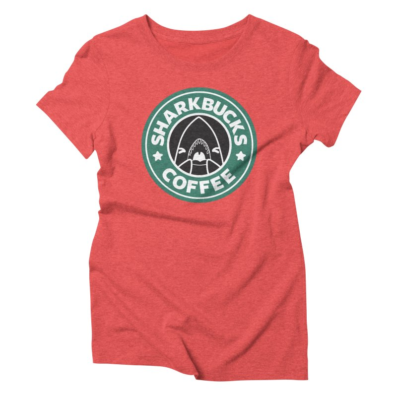 SHARKBUCKS (green) Women's Triblend T-Shirt by Byte Size Treasure's Shop