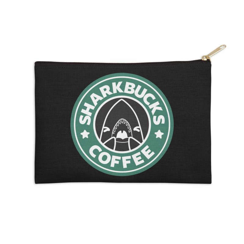 SHARKBUCKS (green) Accessories Zip Pouch by Byte Size Treasure's Shop