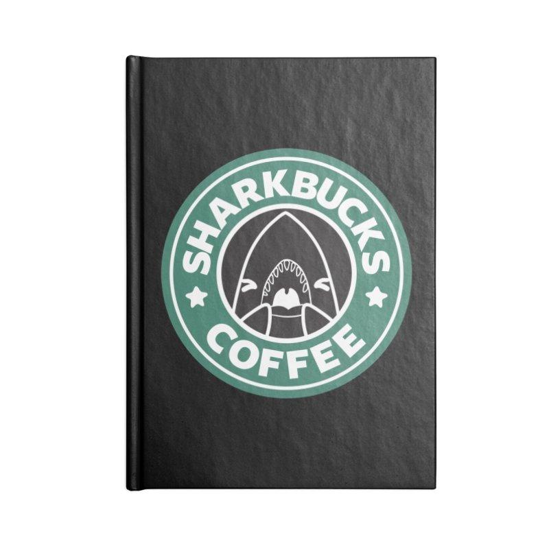 SHARKBUCKS (green) Accessories Blank Journal Notebook by Byte Size Treasure's Shop