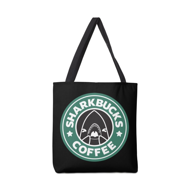 SHARKBUCKS (green) Accessories Bag by Byte Size Treasure's Shop