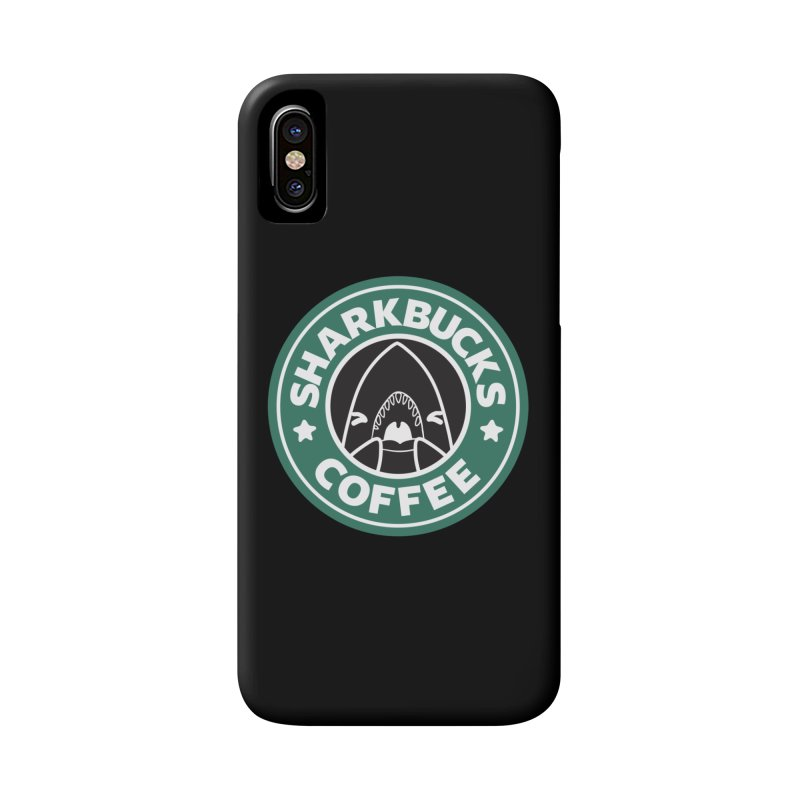 SHARKBUCKS (green) Accessories Phone Case by Byte Size Treasure's Shop