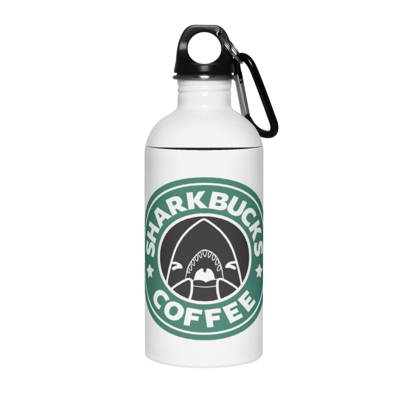 SHARKBUCKS (green) Accessories Water Bottle by Byte Size Treasure's Shop