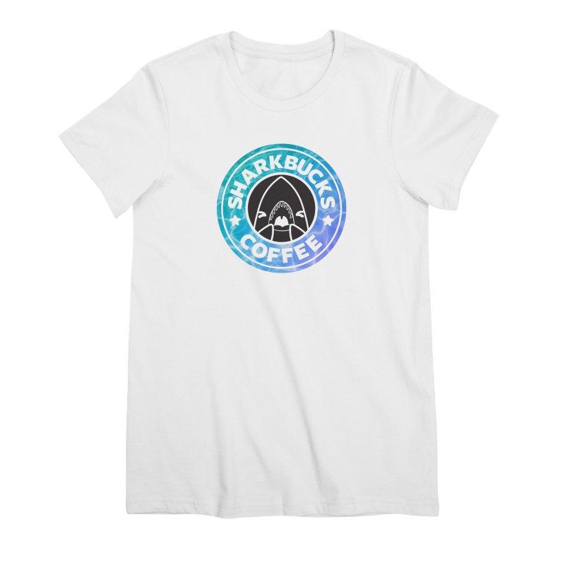 SHARKBUCKS (water) Women's Premium T-Shirt by Byte Size Treasure's Shop