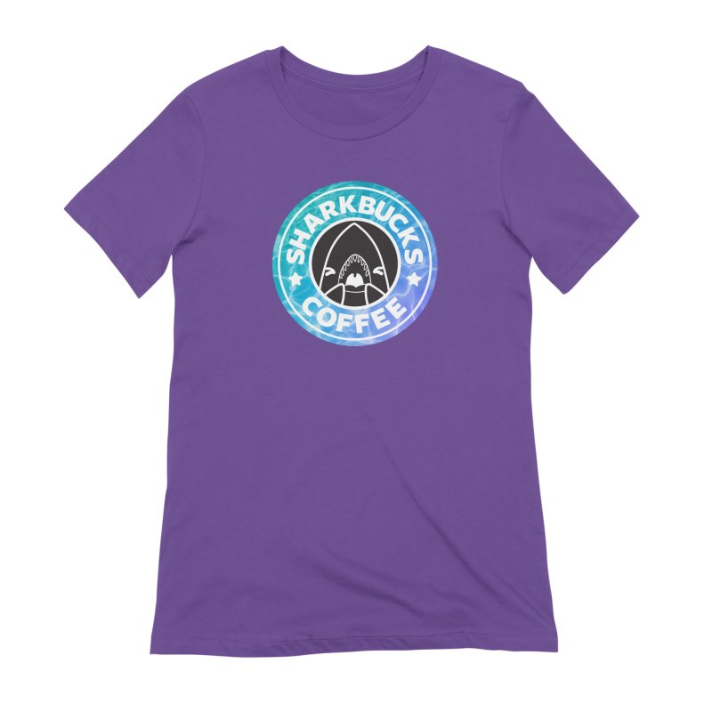SHARKBUCKS (water) Women's Extra Soft T-Shirt by Byte Size Treasure's Shop