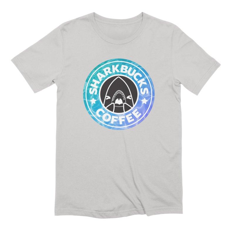 SHARKBUCKS (water) Men's Extra Soft T-Shirt by Byte Size Treasure's Shop