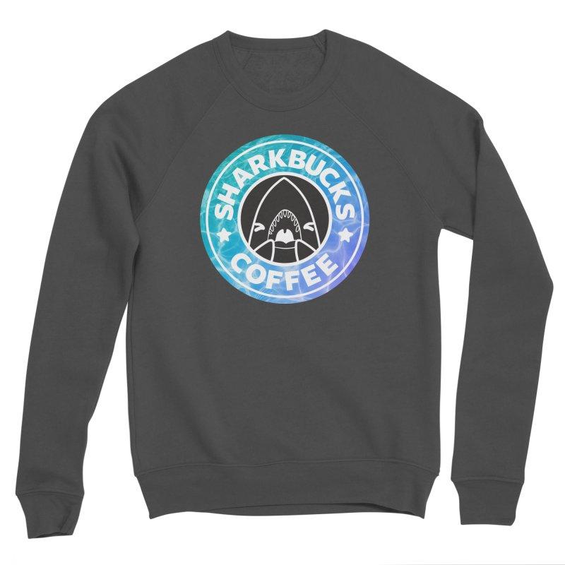 SHARKBUCKS (water) Men's Sponge Fleece Sweatshirt by Byte Size Treasure's Shop