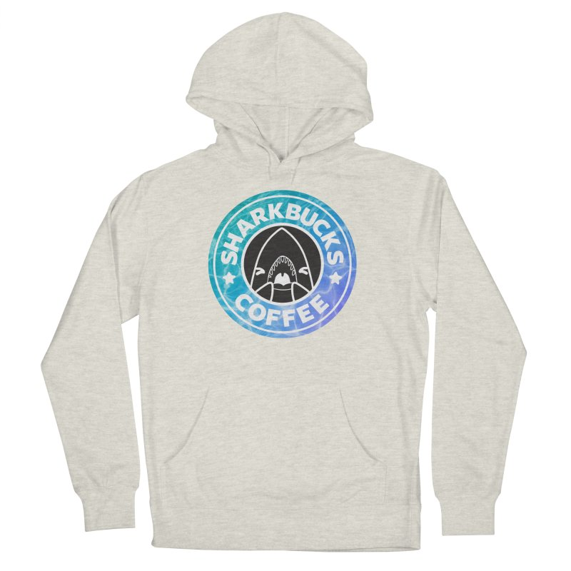 SHARKBUCKS (water) Women's French Terry Pullover Hoody by Byte Size Treasure's Shop