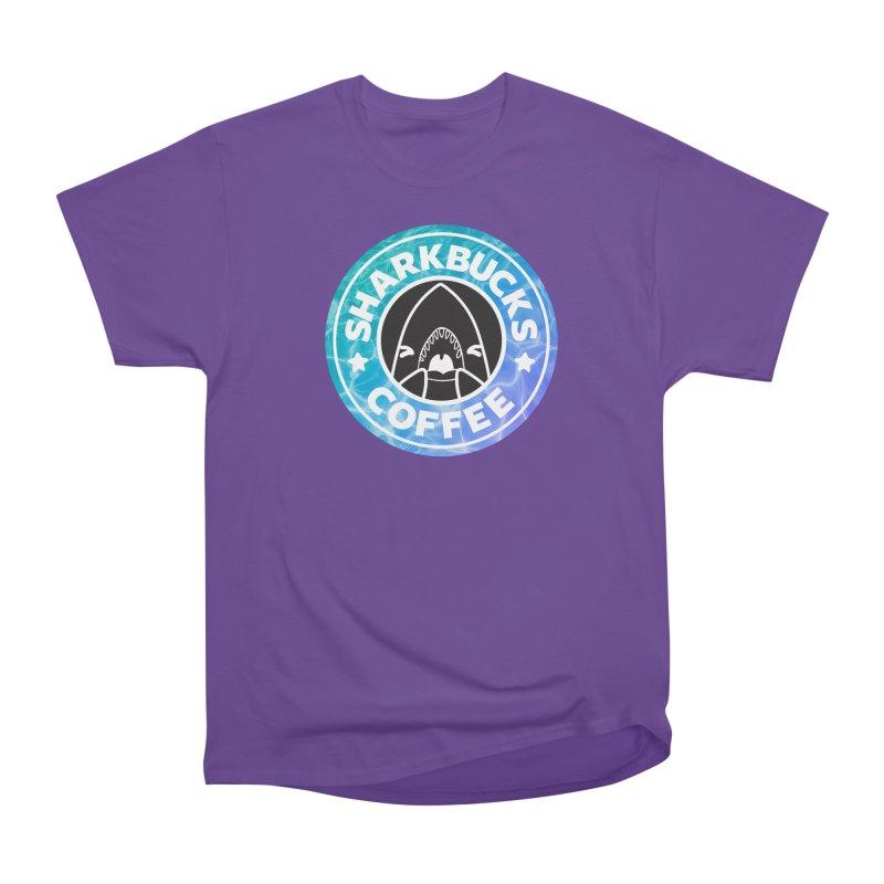 SHARKBUCKS (water) Men's Heavyweight T-Shirt by Byte Size Treasure's Shop