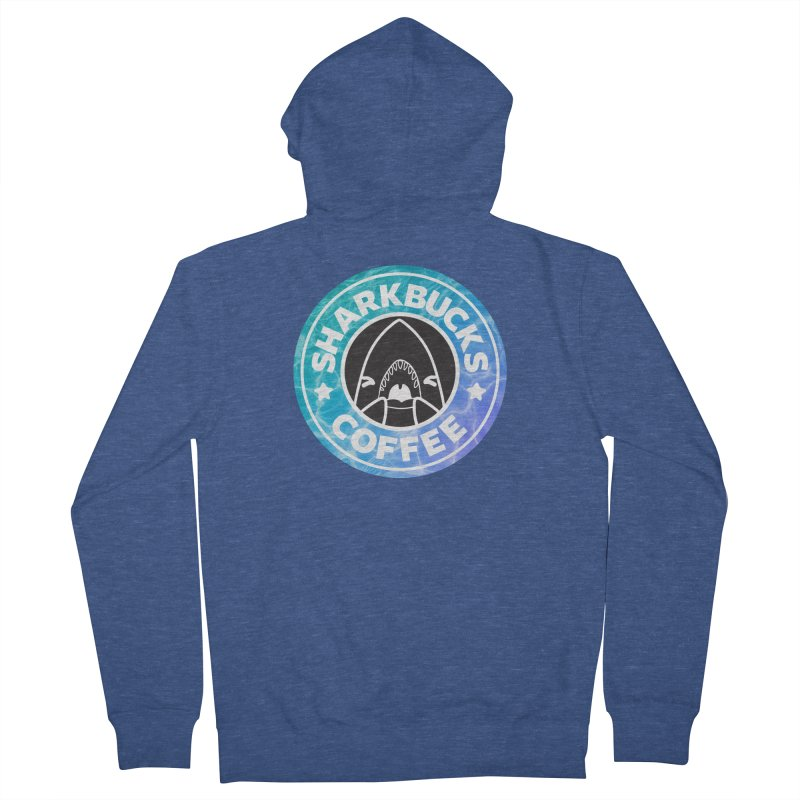 SHARKBUCKS (water) Men's French Terry Zip-Up Hoody by Byte Size Treasure's Shop