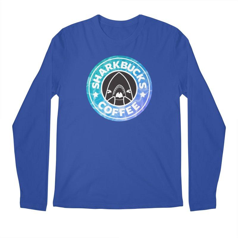 SHARKBUCKS (water) Men's Regular Longsleeve T-Shirt by Byte Size Treasure's Shop