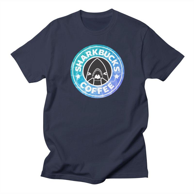 SHARKBUCKS (water) Men's Regular T-Shirt by Byte Size Treasure's Shop